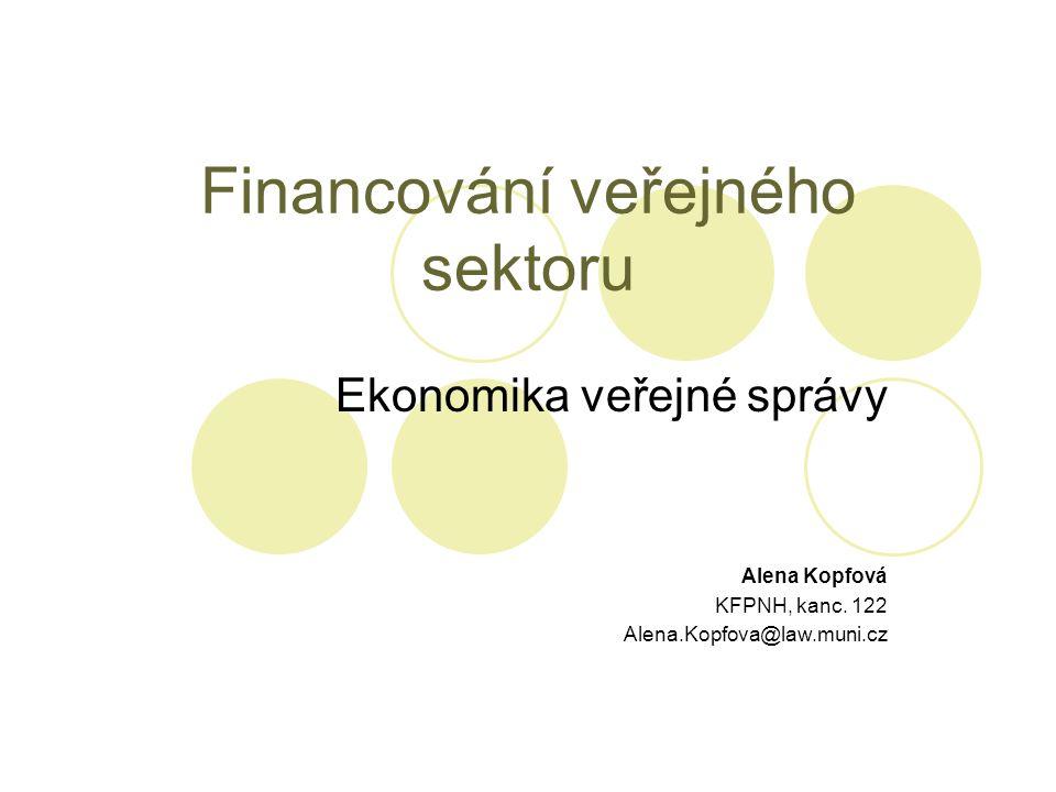 Financování veřejného sektoru