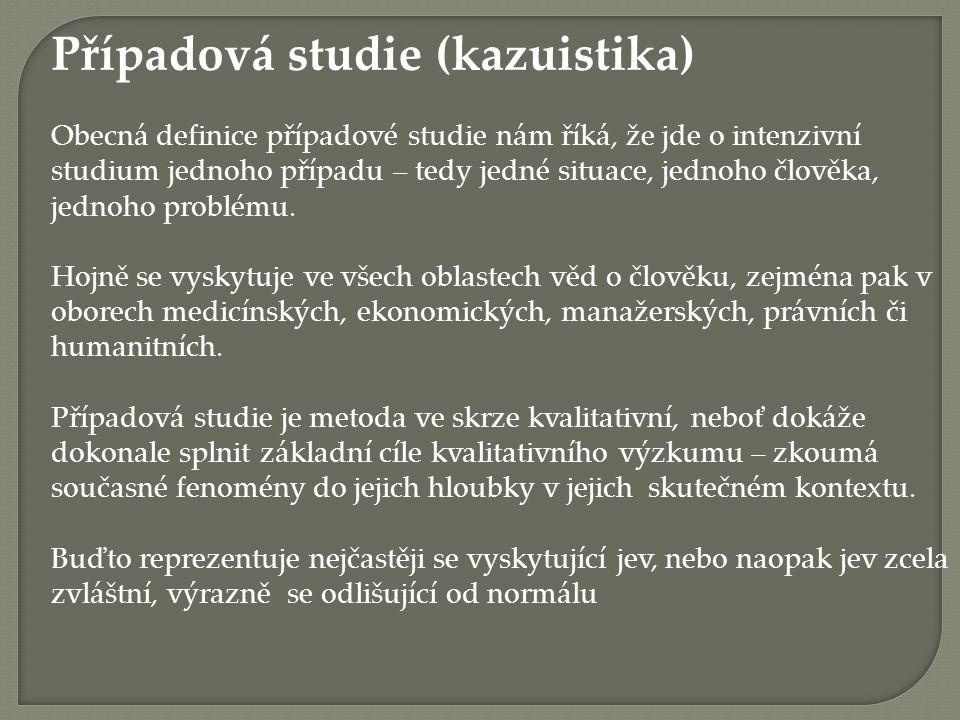 Případová studie (kazuistika)