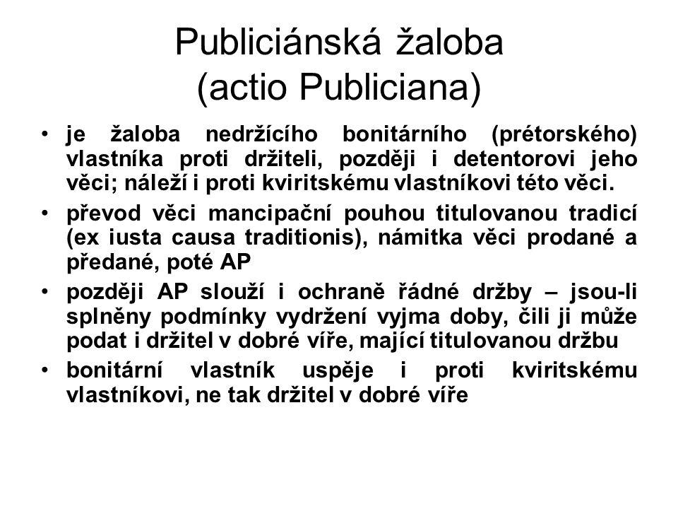 Publiciánská žaloba (actio Publiciana)