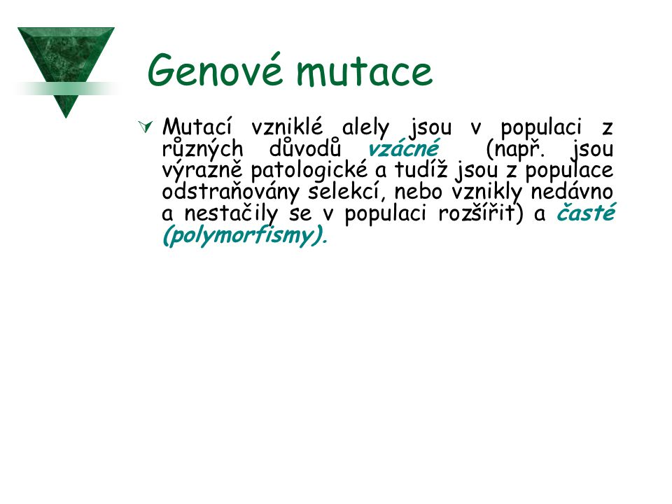 Genové mutace