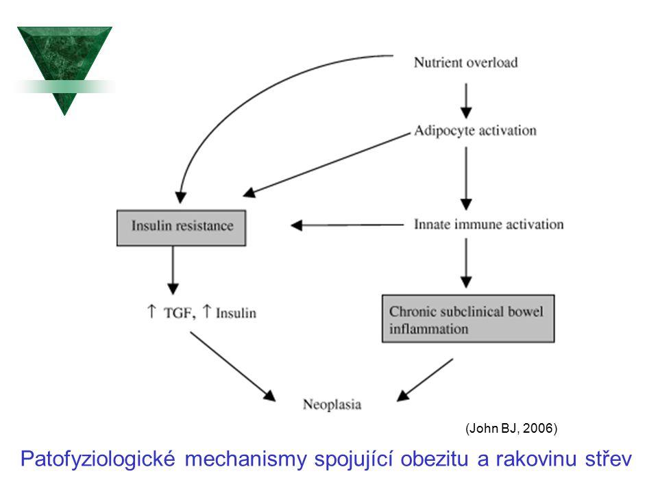 Patofyziologické mechanismy spojující obezitu a rakovinu střev