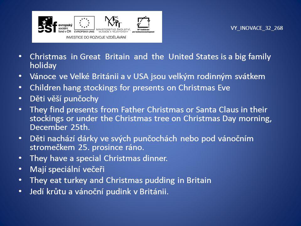 Vánoce ve Velké Británii a v USA jsou velkým rodinným svátkem
