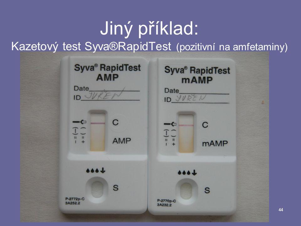 Jiný příklad: Kazetový test Syva®RapidTest (pozitivní na amfetaminy)