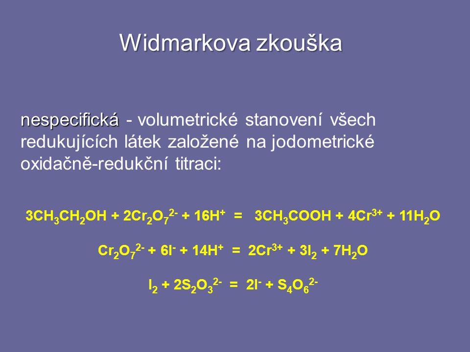 3CH3CH2OH + 2Cr2O72- + 16H+ = 3CH3COOH + 4Cr3+ + 11H2O