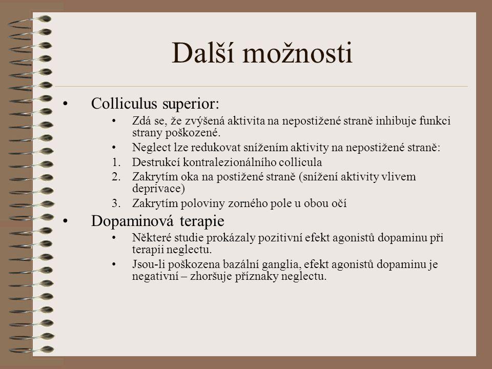 Další možnosti Colliculus superior: Dopaminová terapie