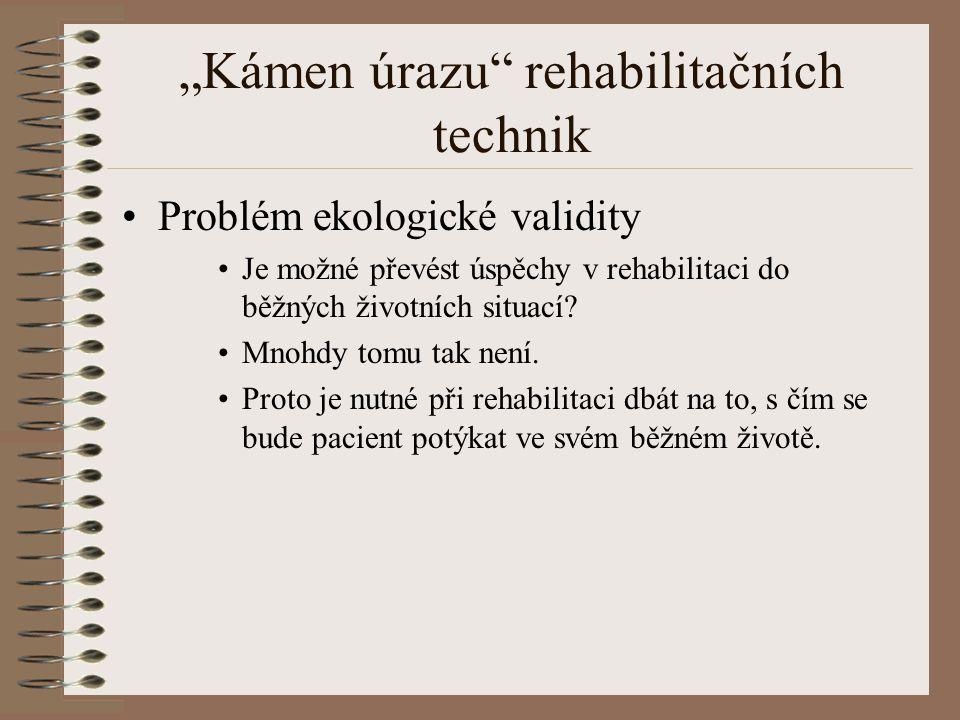 """""""Kámen úrazu rehabilitačních technik"""