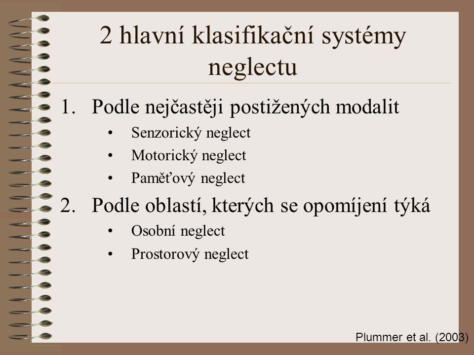 2 hlavní klasifikační systémy neglectu