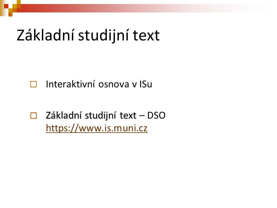 Základní studijní text