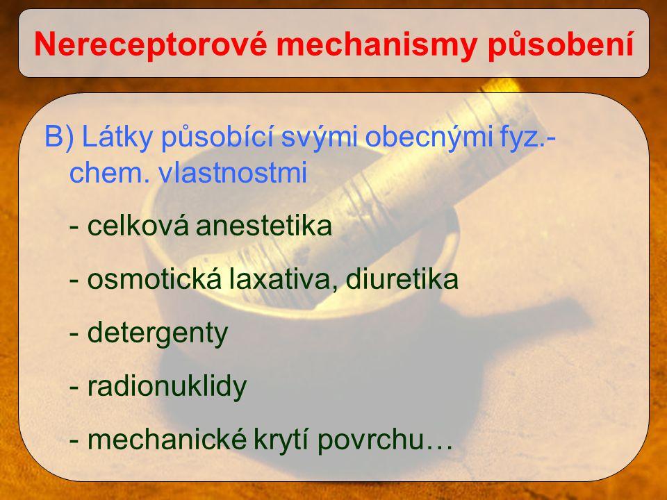 Nereceptorové mechanismy působení