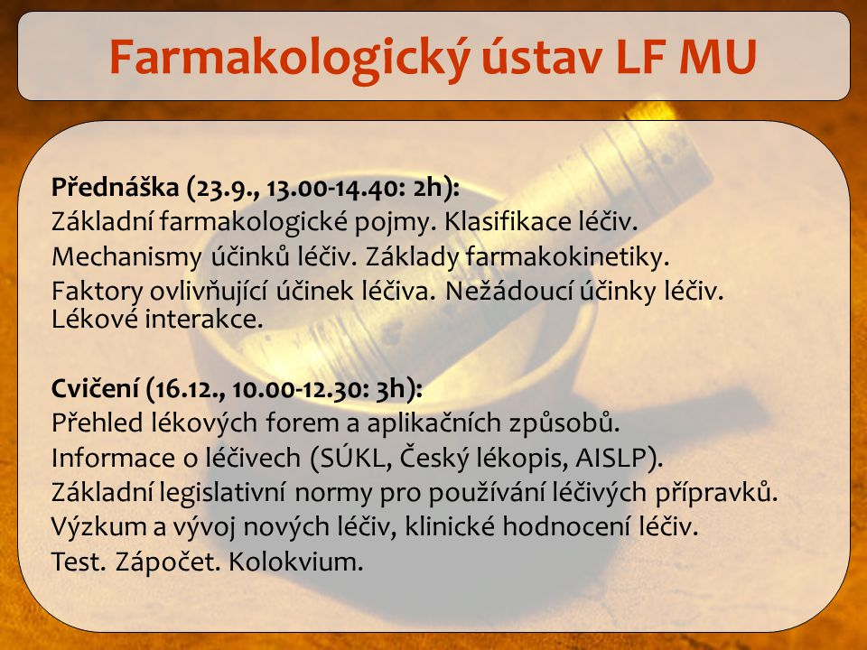 Farmakologický ústav LF MU