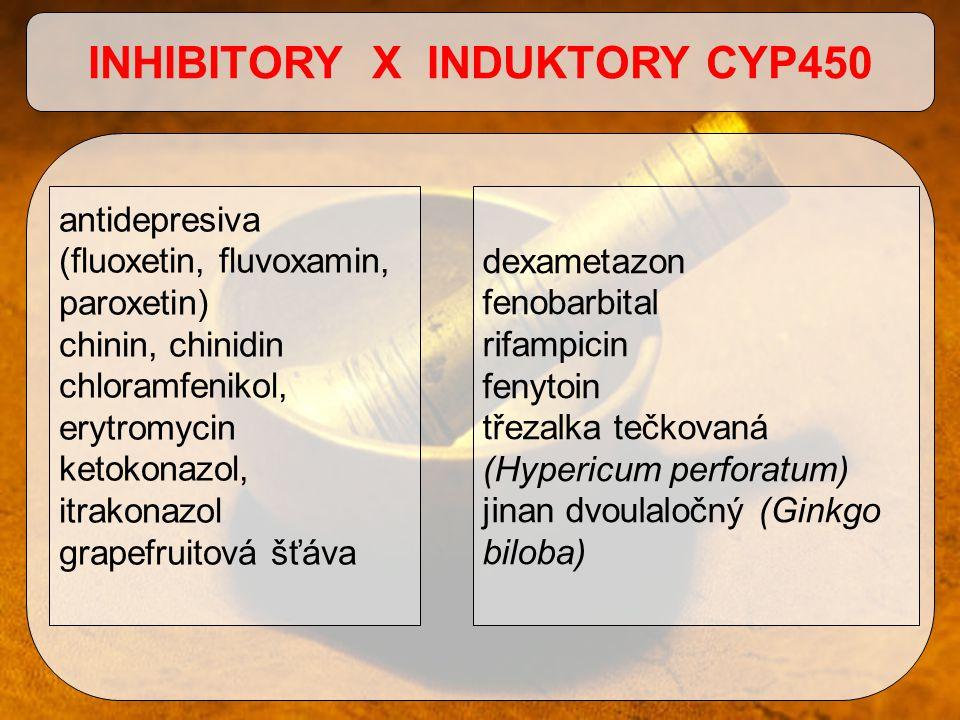 INHIBITORY X INDUKTORY CYP450
