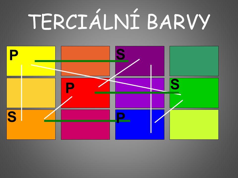 TERCIÁLNÍ BARVY P S S P S P