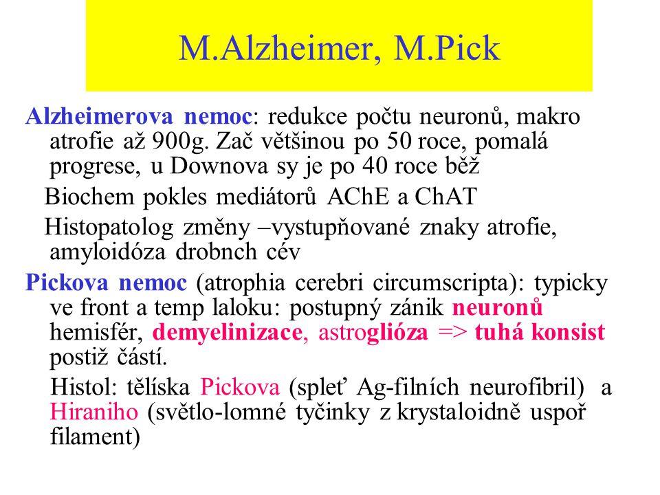 M.Alzheimer, M.Pick