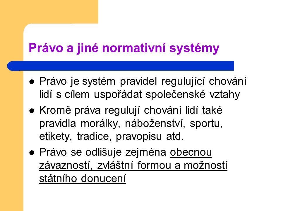 Právo a jiné normativní systémy