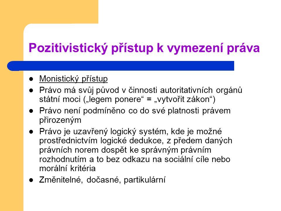 Pozitivistický přístup k vymezení práva