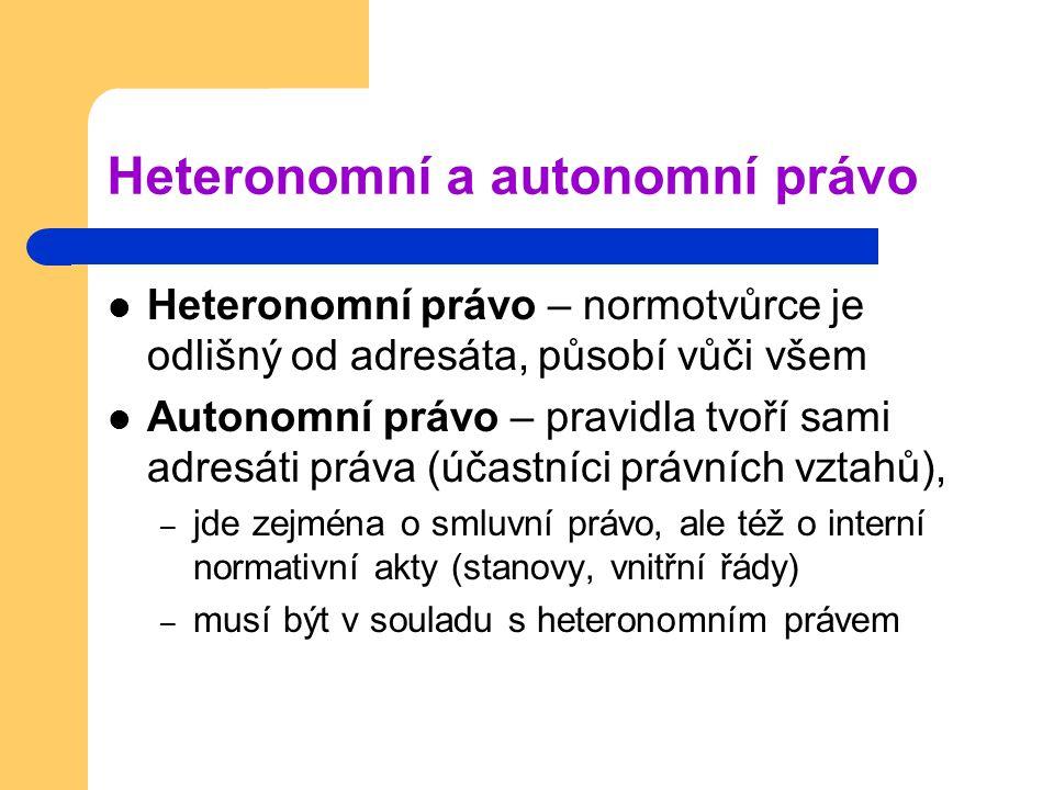 Heteronomní a autonomní právo