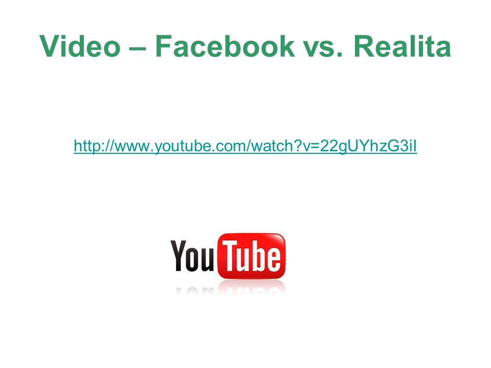 Video – Facebook vs. Realita