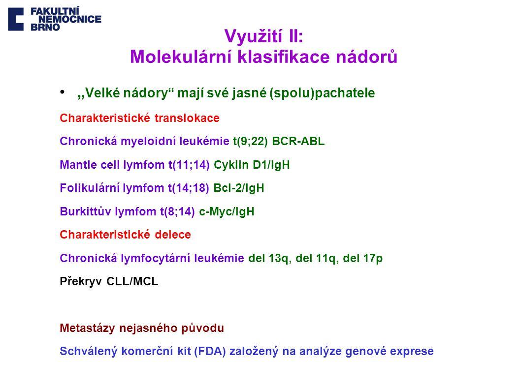 Využití II: Molekulární klasifikace nádorů