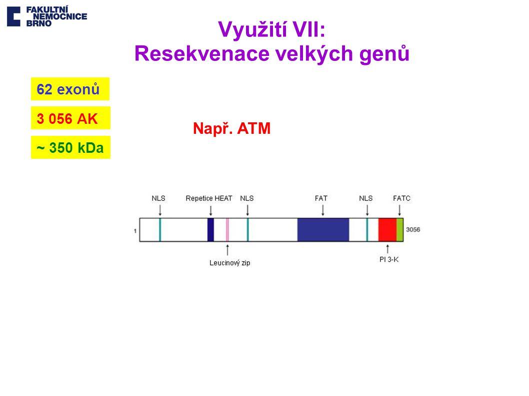 Využití VII: Resekvenace velkých genů