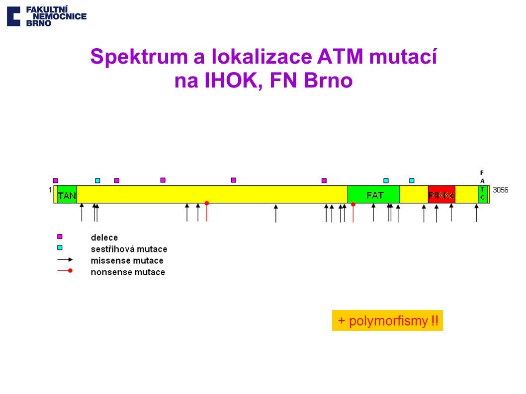 Spektrum a lokalizace ATM mutací na IHOK, FN Brno