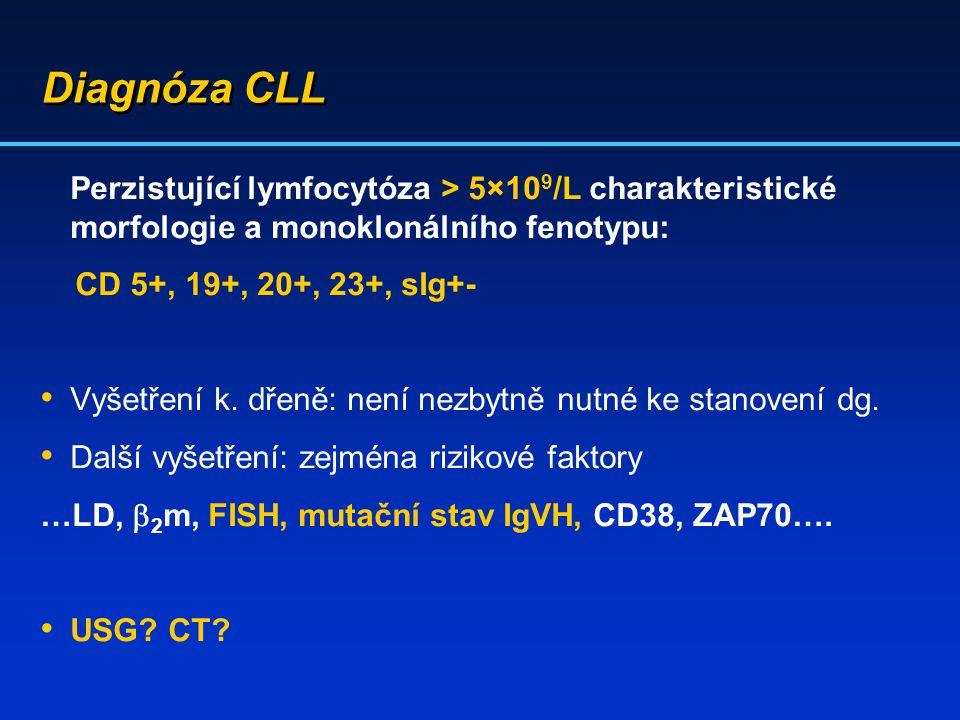 Diagnóza CLL CD 5+, 19+, 20+, 23+, sIg+-