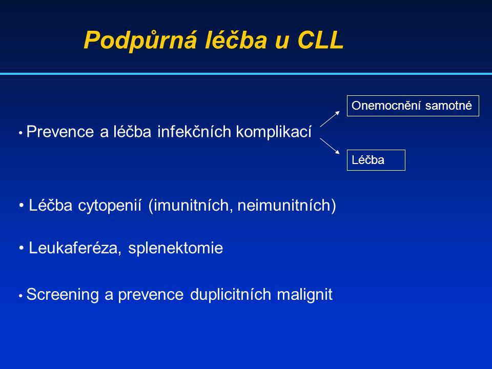 Podpůrná léčba u CLL Léčba cytopenií (imunitních, neimunitních)