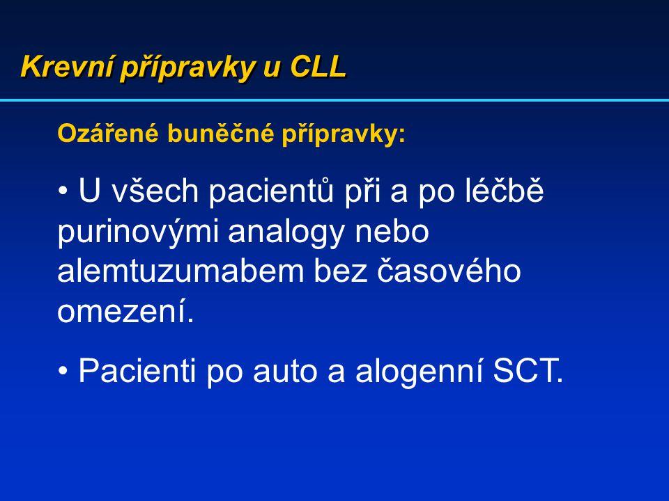 Pacienti po auto a alogenní SCT.