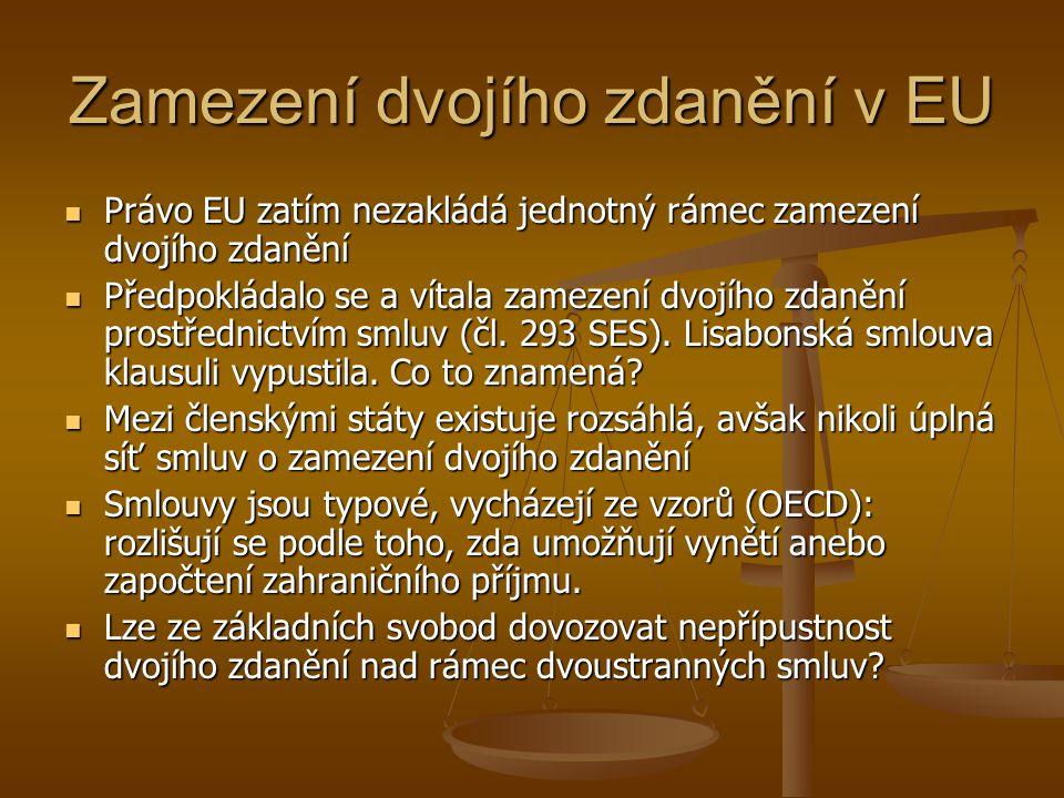 Zamezení dvojího zdanění v EU