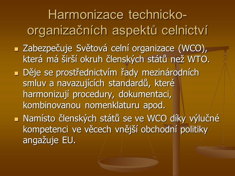 Harmonizace technicko-organizačních aspektů celnictví