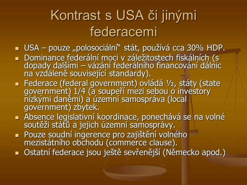 Kontrast s USA či jinými federacemi