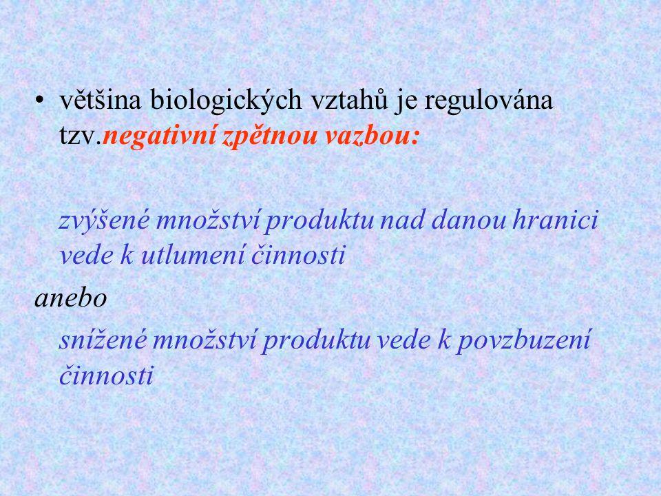 většina biologických vztahů je regulována tzv