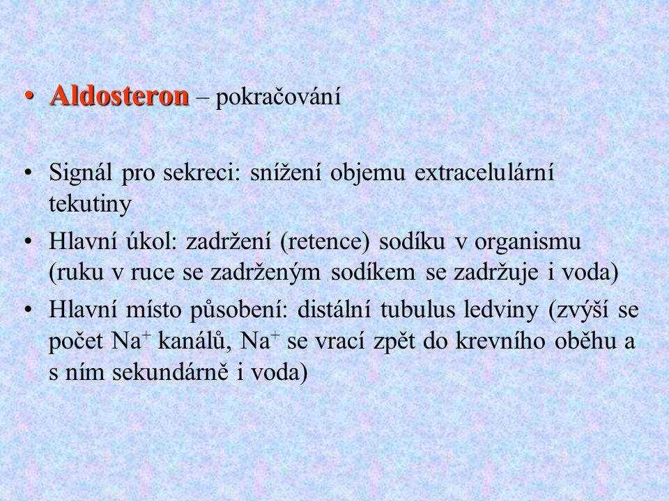 Aldosteron – pokračování