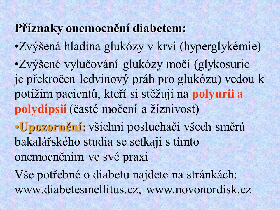 Příznaky onemocnění diabetem: