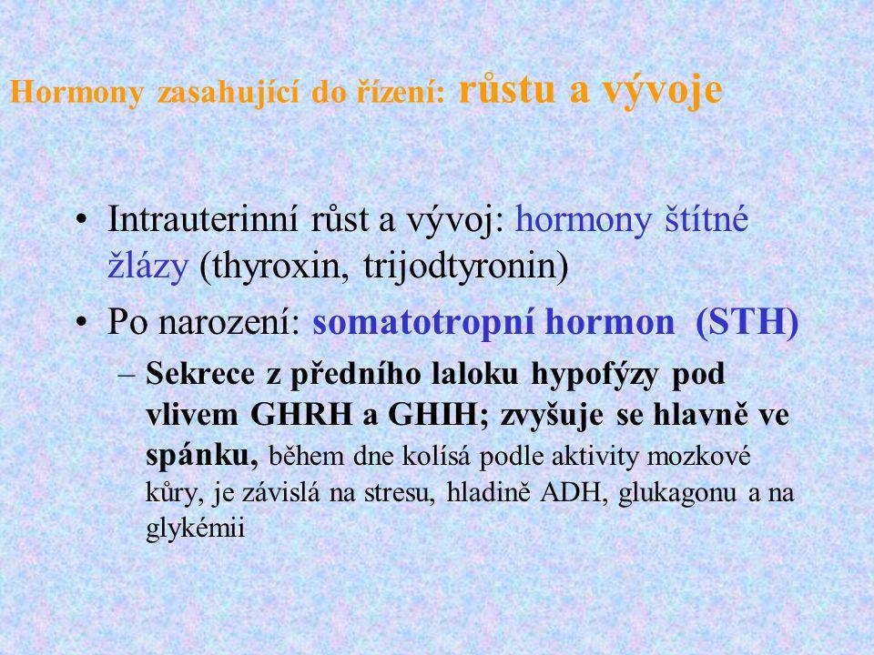 Hormony zasahující do řízení: růstu a vývoje