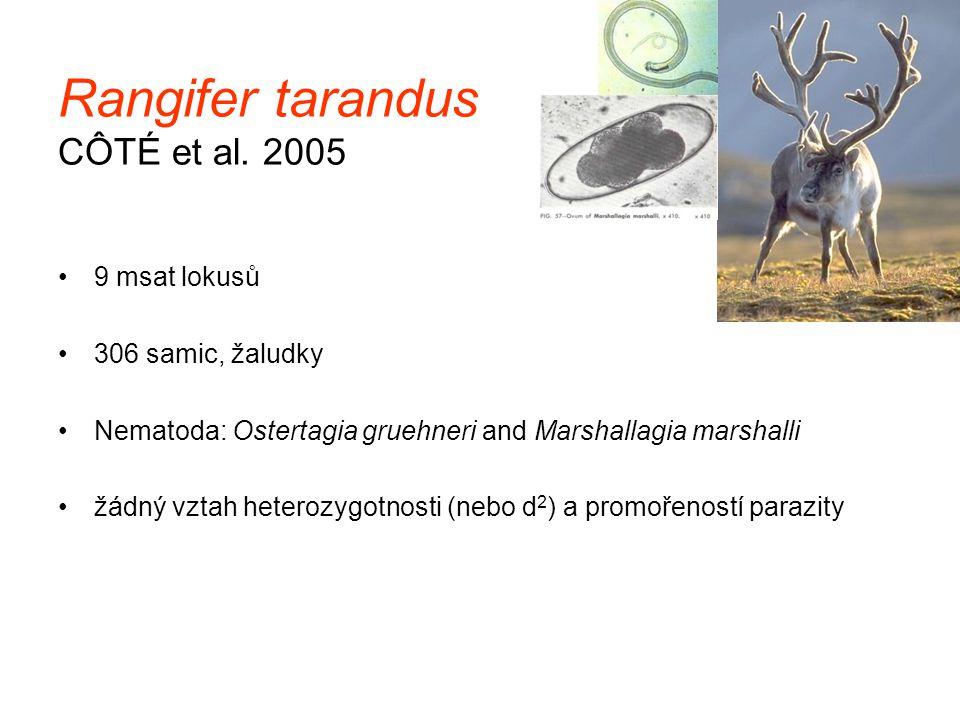 Rangifer tarandus CÔTÉ et al. 2005
