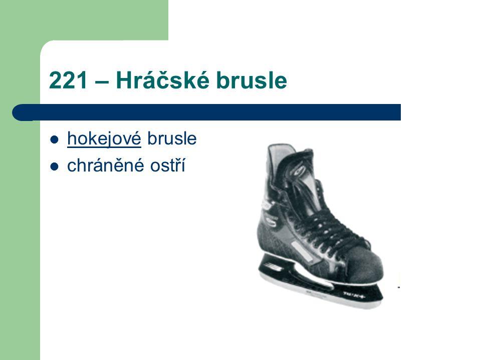 221 – Hráčské brusle hokejové brusle chráněné ostří