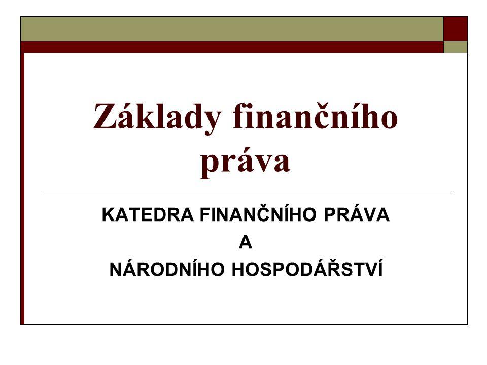 Základy finančního práva