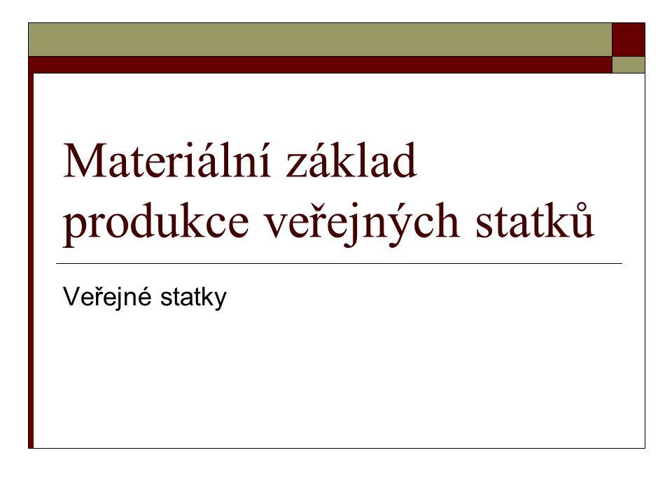 Materiální základ produkce veřejných statků