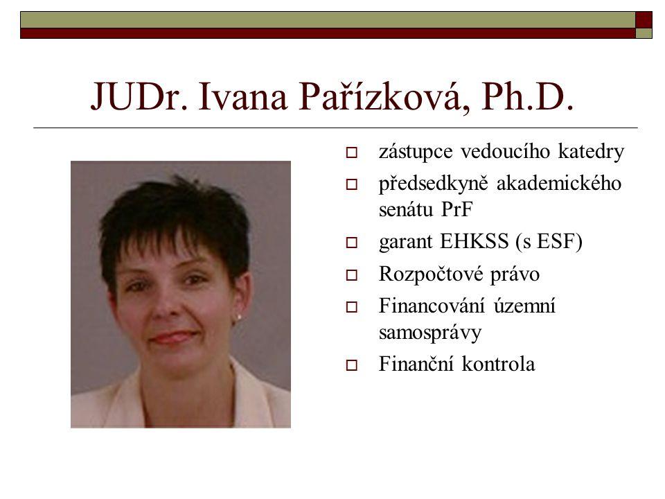 JUDr. Ivana Pařízková, Ph.D.
