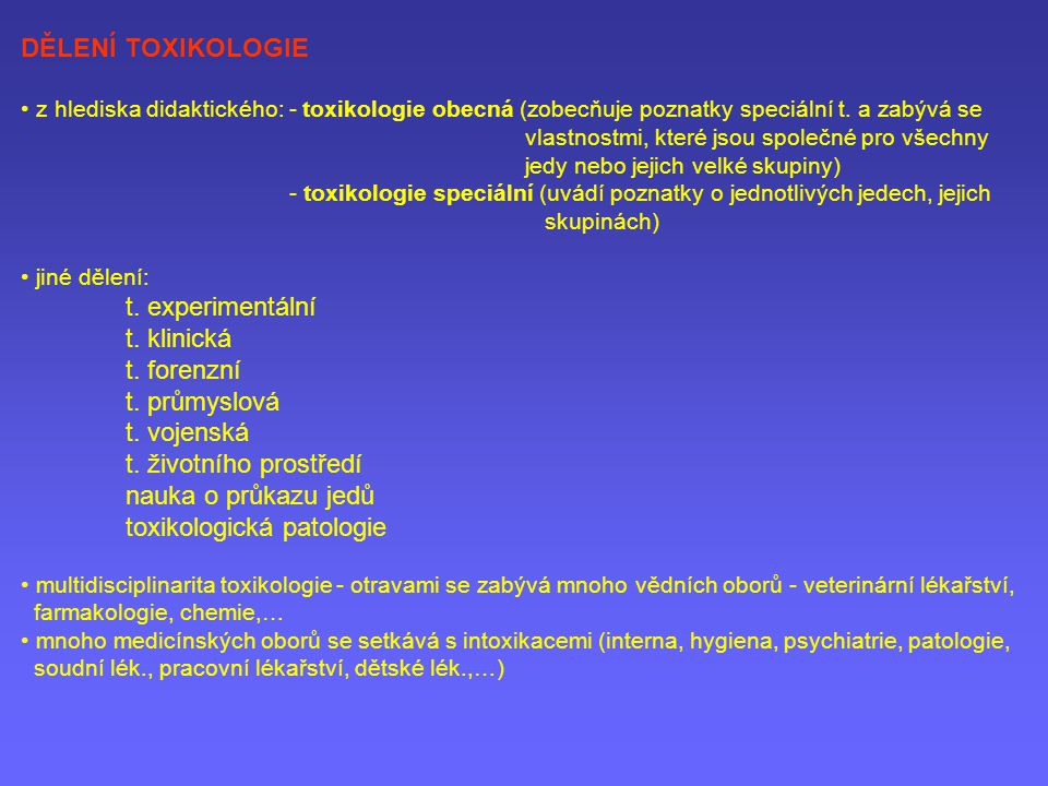 toxikologická patologie