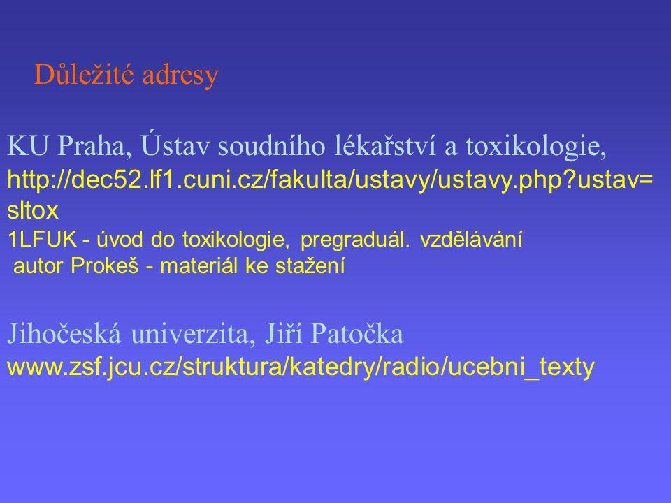 KU Praha, Ústav soudního lékařství a toxikologie,