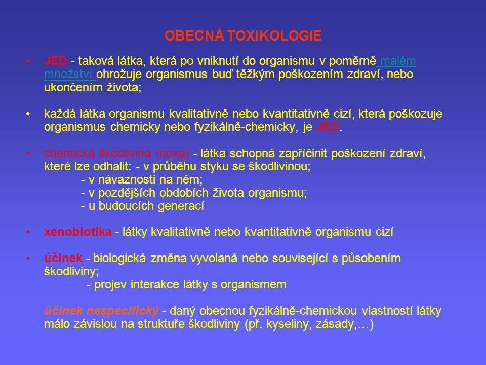 OBECNÁ TOXIKOLOGIE