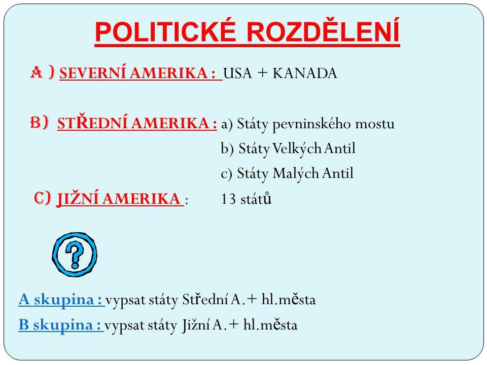 POLITICKÉ ROZDĚLENÍ