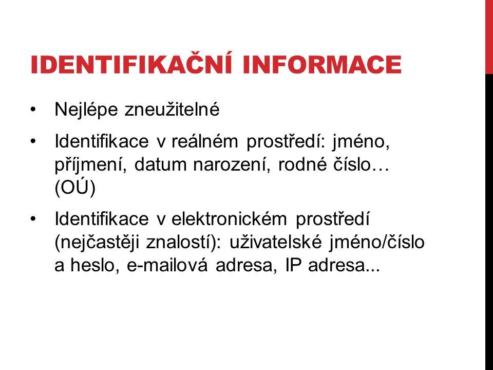 Identifikační informace