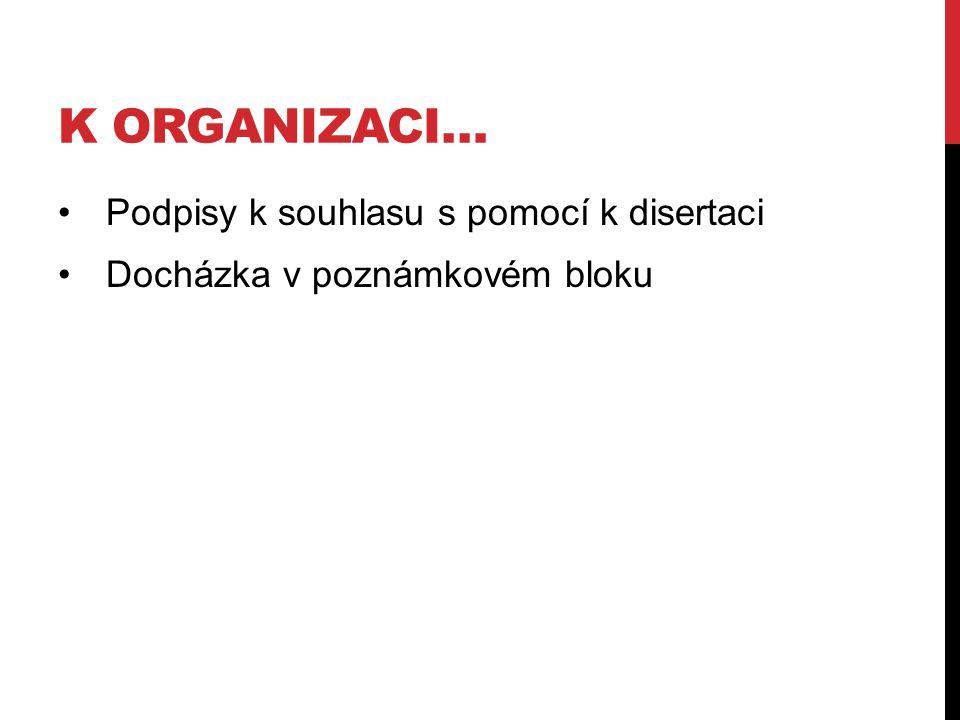 K organizaci… Podpisy k souhlasu s pomocí k disertaci
