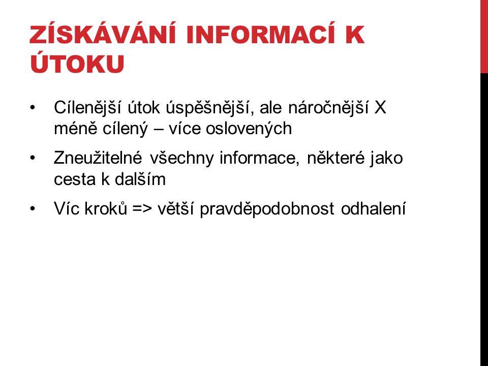 Získávání informací k útoku