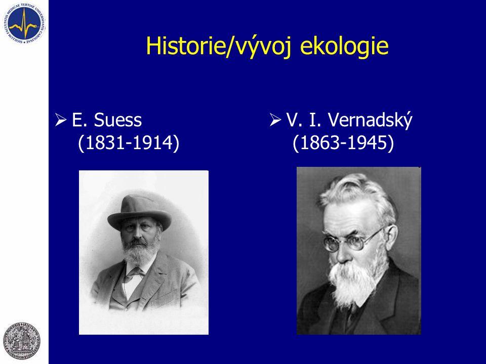 Historie/vývoj ekologie