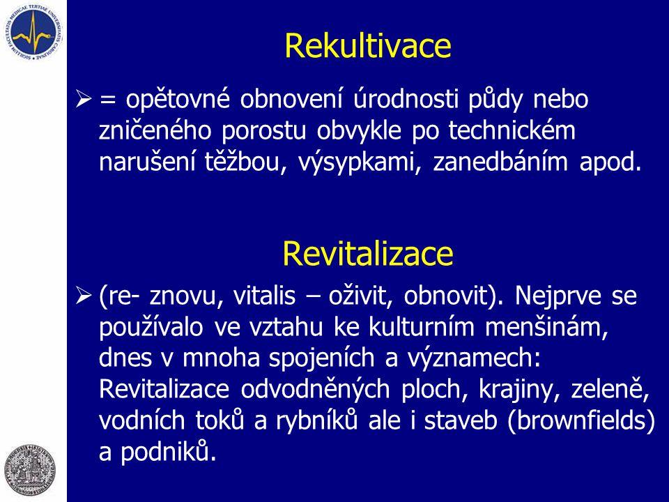 Rekultivace Revitalizace