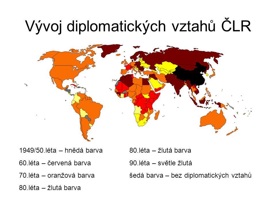 Vývoj diplomatických vztahů ČLR