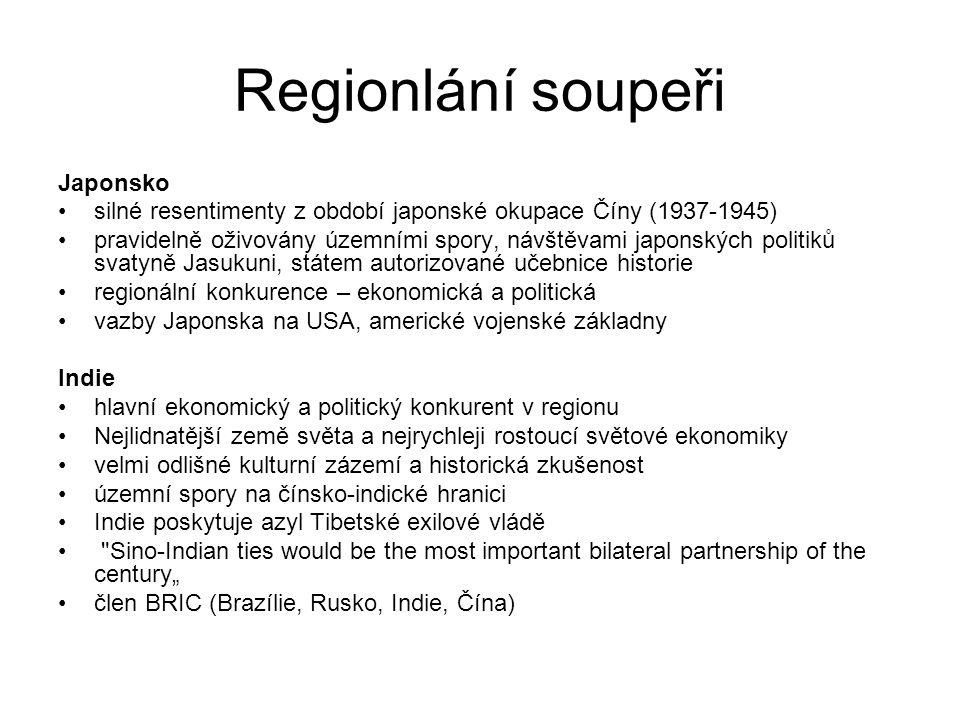 Regionlání soupeři Japonsko